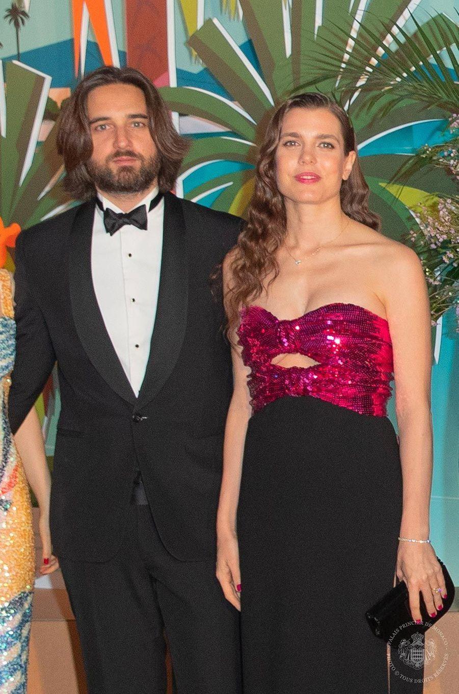 Dimitri Rassam et Charlotte Casiraghi au Bal de la Rose, au Sporting Monte-Carlo, le 30 mars 2019.