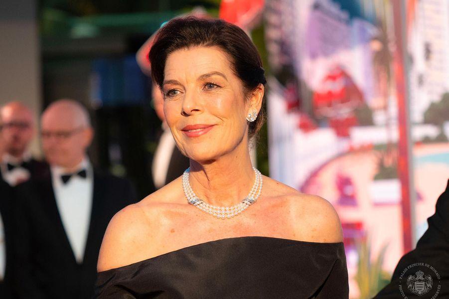 La princesse Caroline au Bal de la Rose, au Sporting Monte-Carlo, le 30 mars 2019.