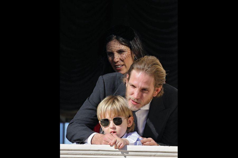 Andrea et Tatiana Casiraghi avec leur fils Sacha, déjà une star.
