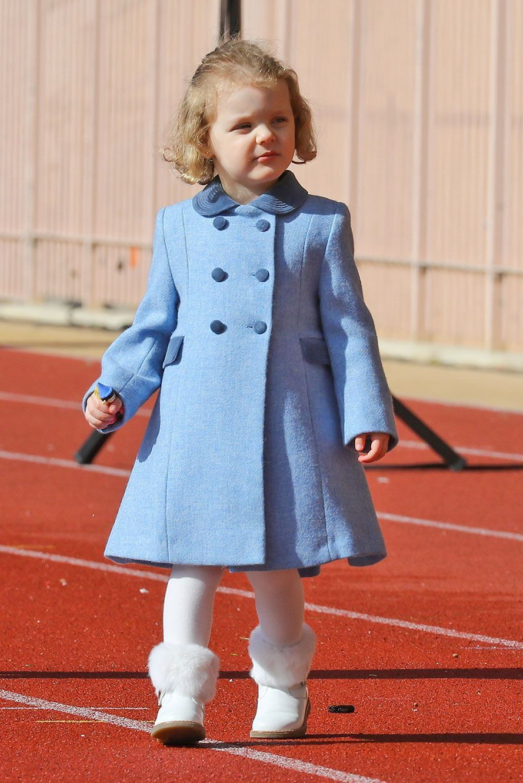 La princesse Gabriella sur la piste du stade Louis-II, samedi.