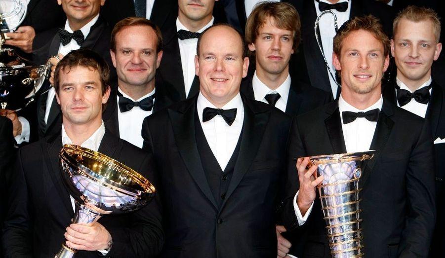 Champions du monde respectivement en rallye et en formule 1, Sébastien Loeb et Jenson Button ont été récompensés, vendredi soir.