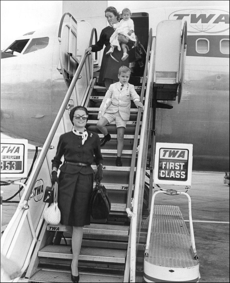 Albert et Caroline à Philadelphie, en 1966