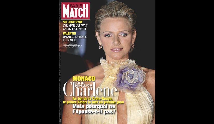 Aout 2008 : « L'été du bonheur pour Charlene »