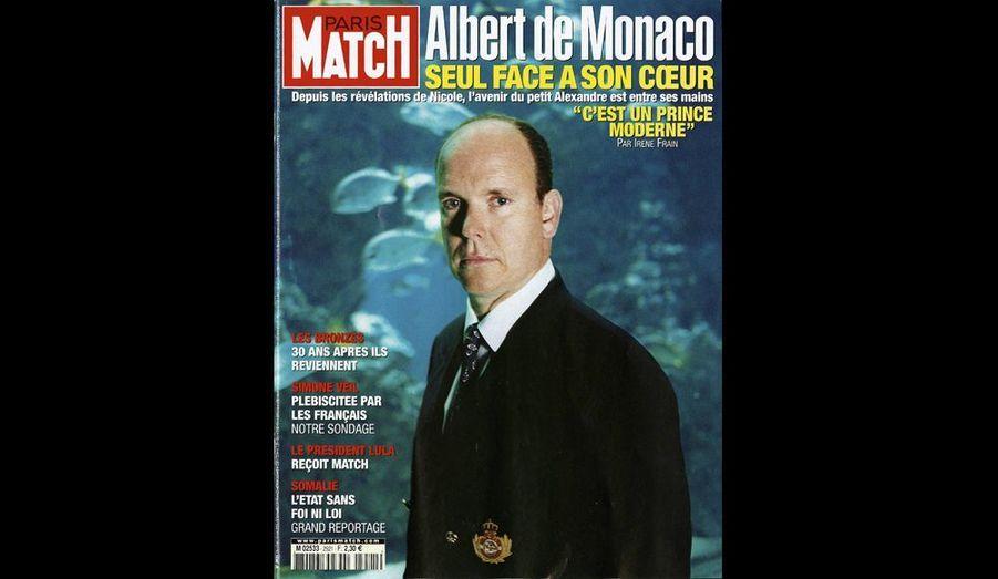 Mai 2005 : « Albert de Monaco seul face à son coeur »