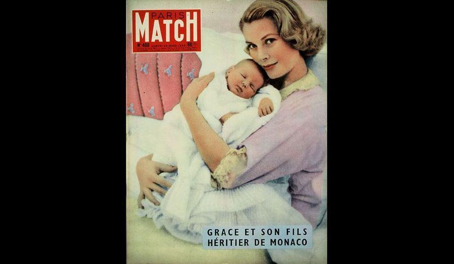 Mars 1958 : « Grace et son fils, héritier de Monaco »