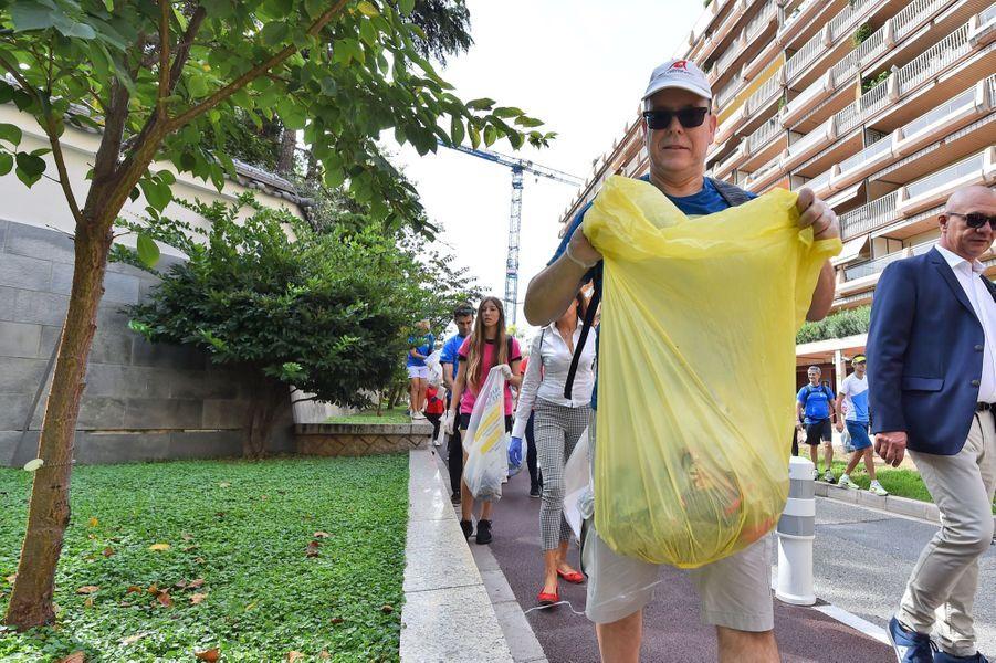 Le princeAlbert IIa participé à l'opération planétaire du World CleanUp Day qui s'est tenu pour la première fois à Monaco,samedi 21 septembre.