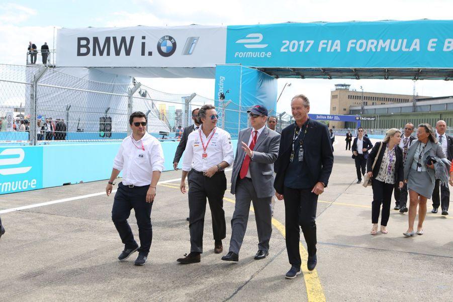 Le prince Albert II de Monaco lors de la première course de l'ePrix de Berlin, le 10 juin 2017.