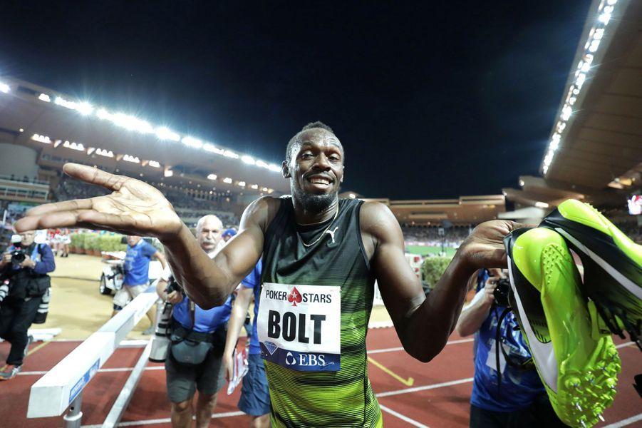 Une dernière victoire en meeting pour Usain Bolt à Monaco.