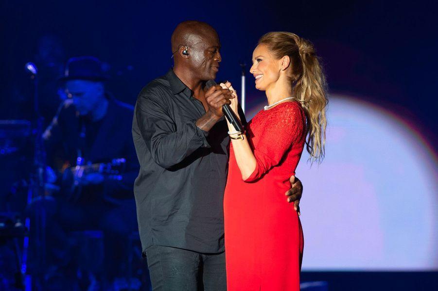 Seal et Adriana Karembeu, vendredi soir.