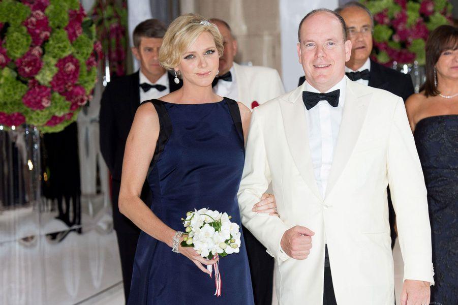 Charlene au bras d'Albert II de Monaco