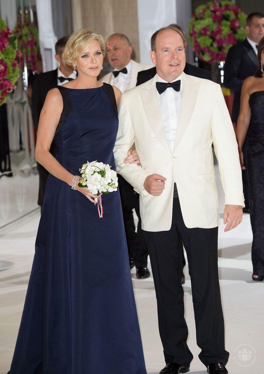 Charlene au bras d'Albert II Monaco