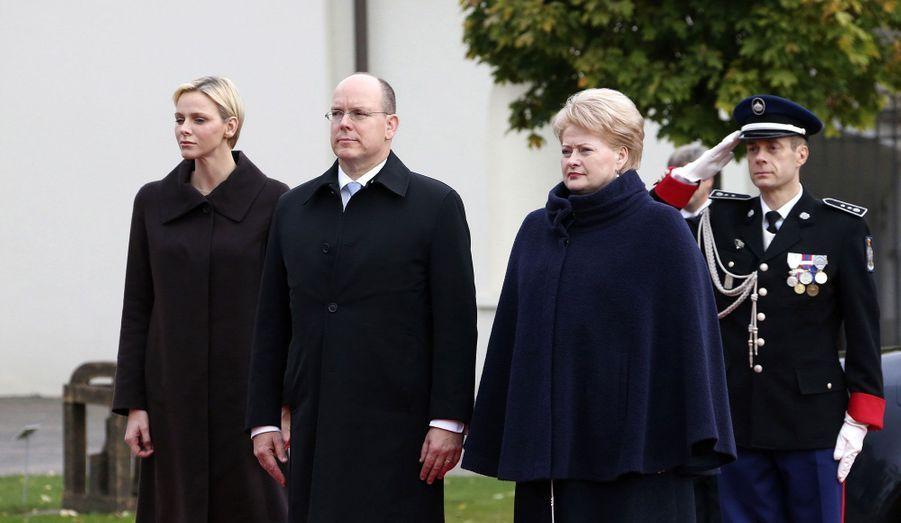 Avec la présidente lithuanienne Dalia Grybauskaite