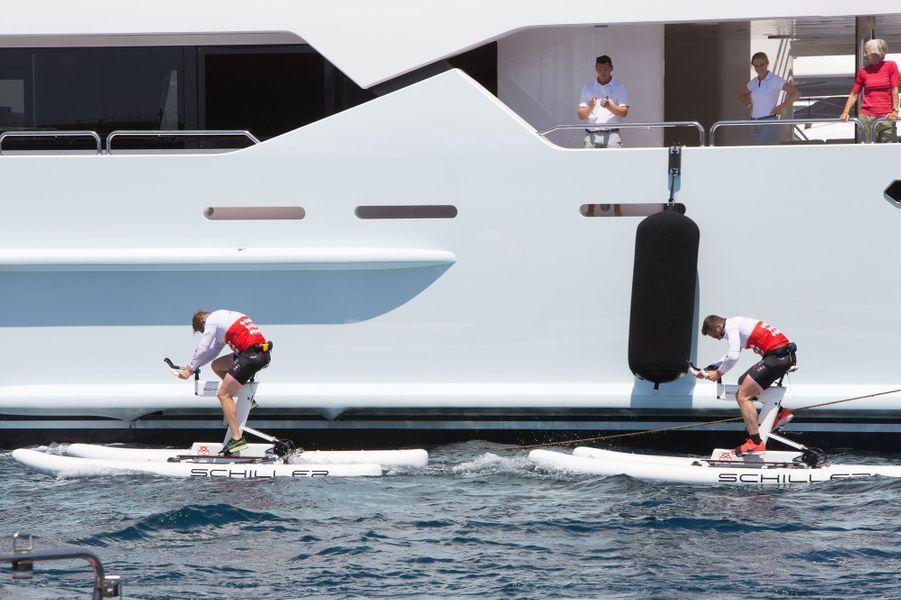 Derniers mètres avant l'arrivée à Monaco.