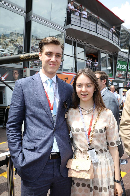 Alexandra de Hanovre etBen-Sylvester Strautmann au Grand Prix de Monaco 2019.
