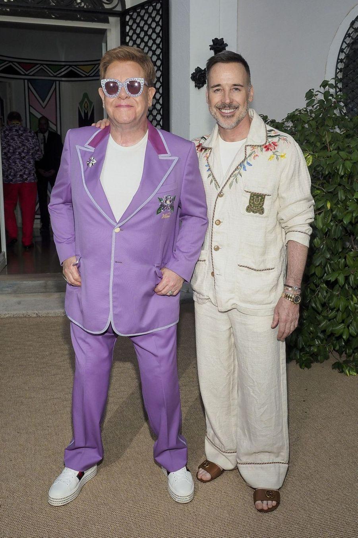 Elton John et son époux David Furnishà Antibes le 24 juillet 2019