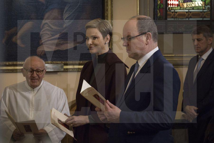 Charlene De Monaco Et Le Prince Albert, Lors Des Celebrations De La Sainte Devote 10
