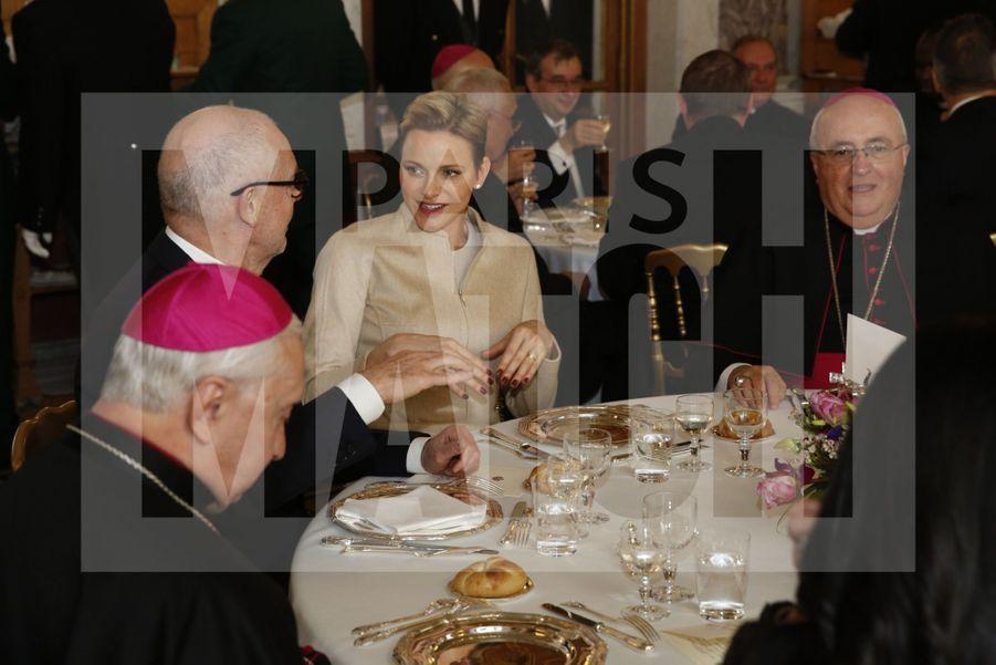Charlene De Monaco Et Le Prince Albert, Lors Des Celebrations De La Sainte Devote 12