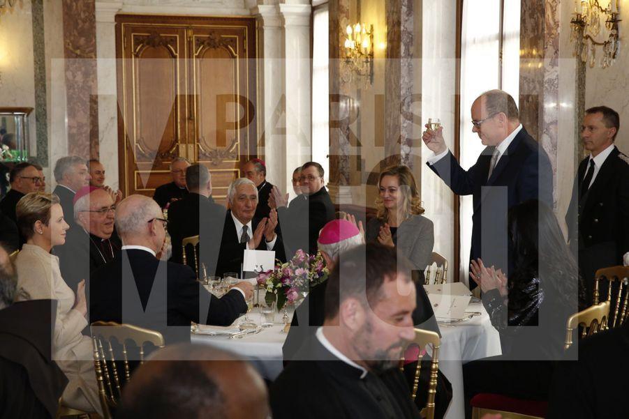 Charlene De Monaco Et Le Prince Albert, Lors Des Celebrations De La Sainte Devote 14