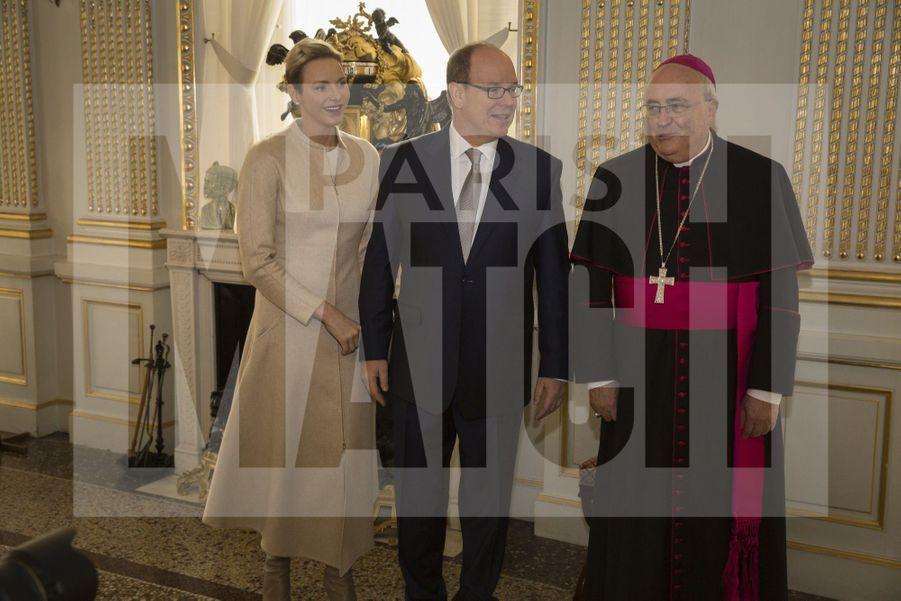 Charlene De Monaco Et Le Prince Albert, Lors Des Celebrations De La Sainte Devote 15