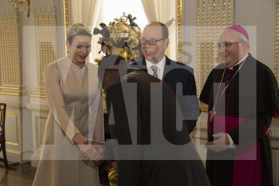 Charlene De Monaco Et Le Prince Albert, Lors Des Celebrations De La Sainte Devote 16