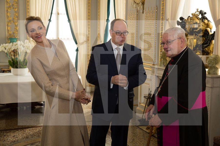 Charlene De Monaco Et Le Prince Albert, Lors Des Celebrations De La Sainte Devote 17