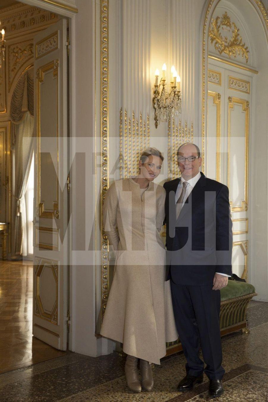 Charlene De Monaco Et Le Prince Albert, Lors Des Celebrations De La Sainte Devote 18