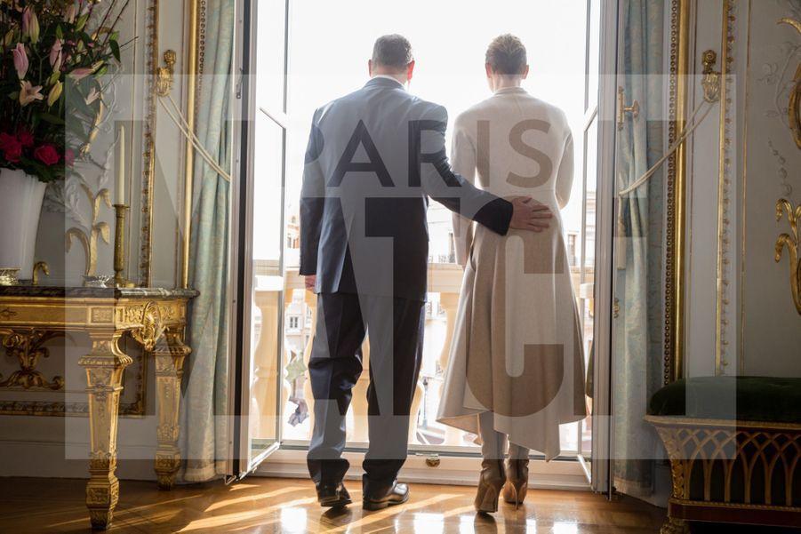 Charlene De Monaco Et Le Prince Albert, Lors Des Celebrations De La Sainte Devote 20