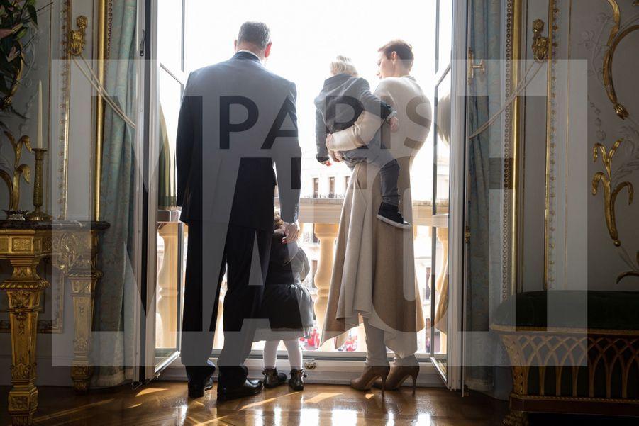 Charlene De Monaco Et Le Prince Albert, Lors Des Celebrations De La Sainte Devote 22