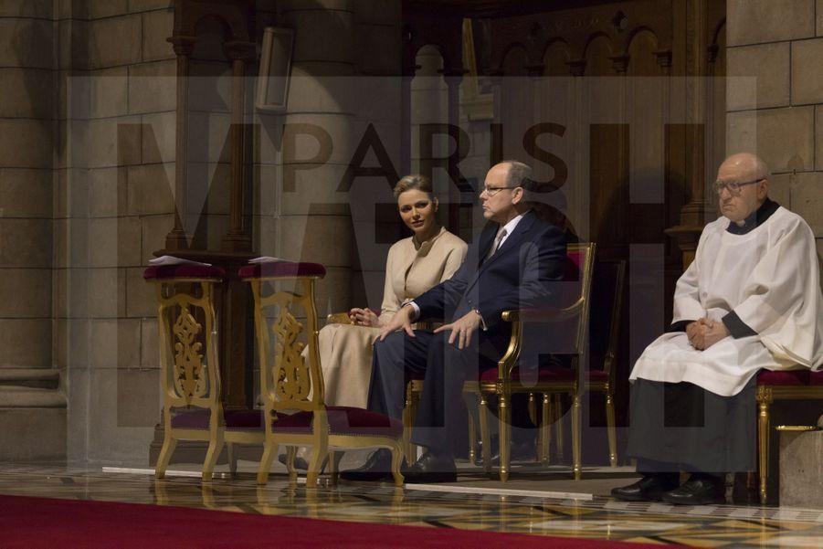 Charlene De Monaco Et Le Prince Albert, Lors Des Celebrations De La Sainte Devote 23