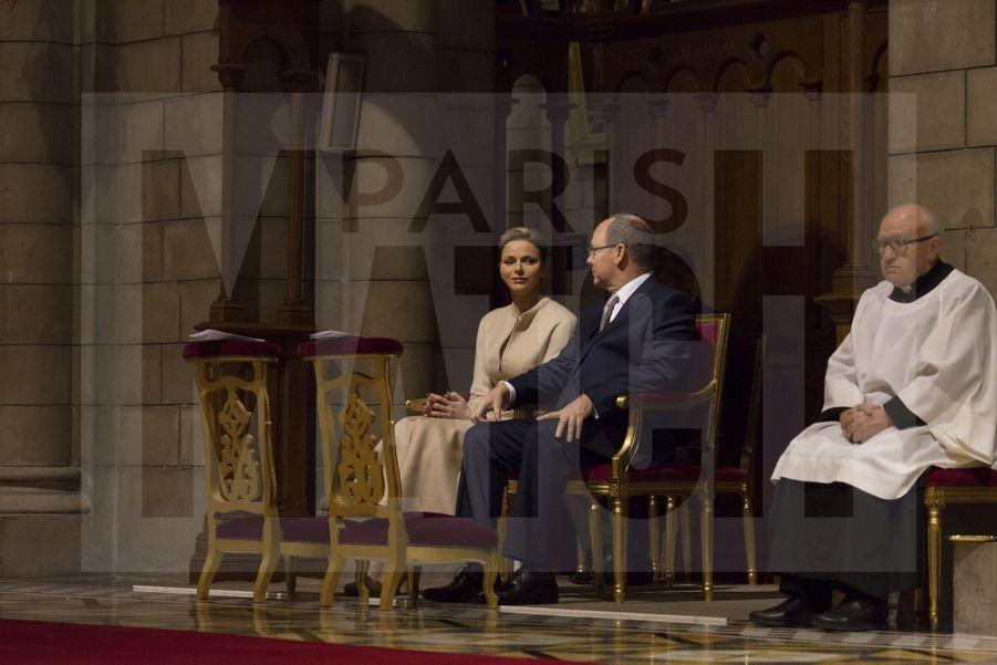 Charlene De Monaco Et Le Prince Albert, Lors Des Celebrations De La Sainte Devote 24