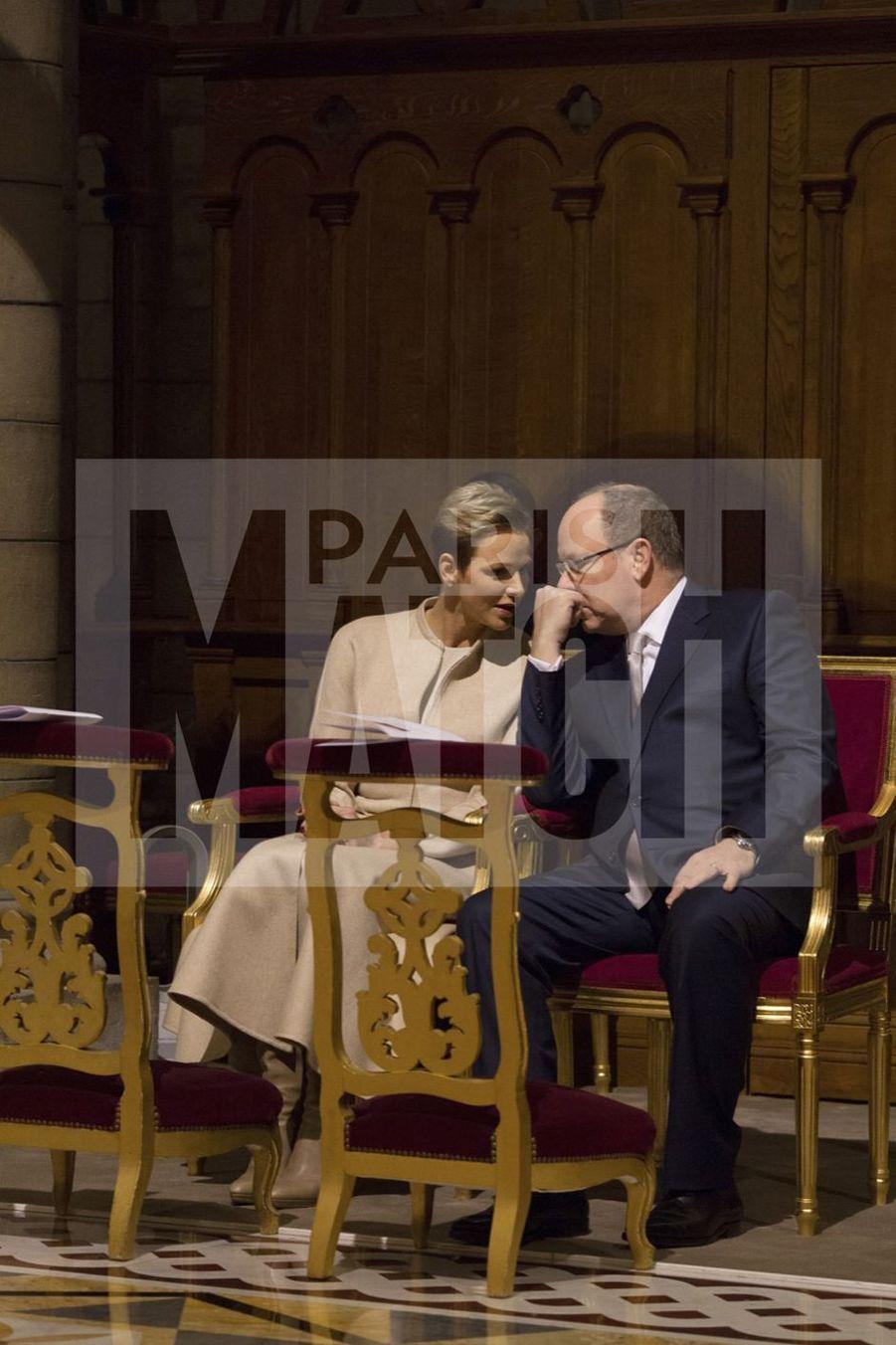 Charlene De Monaco Et Le Prince Albert, Lors Des Celebrations De La Sainte Devote 25