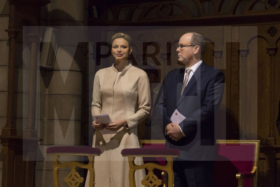 Charlene De Monaco Et Le Prince Albert, Lors Des Celebrations De La Sainte Devote 26