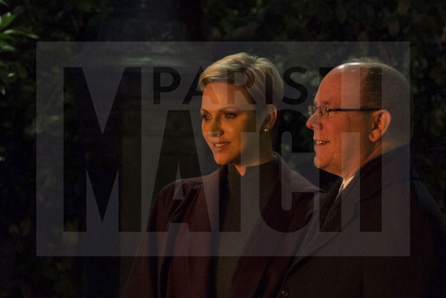 Charlene De Monaco Et Le Prince Albert, Lors Des Celebrations De La Sainte Devote 3