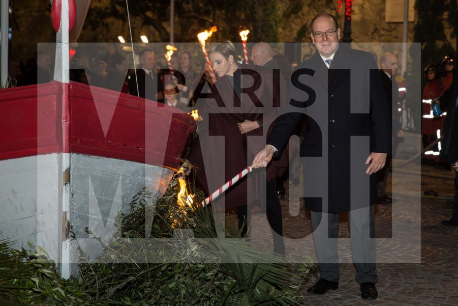 Charlene De Monaco Et Le Prince Albert, Lors Des Celebrations De La Sainte Devote 6