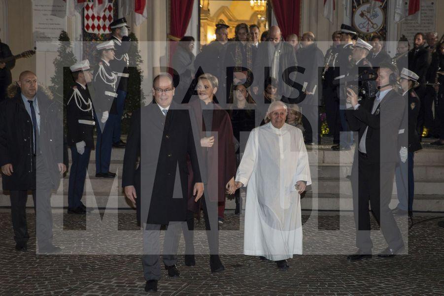 Charlene De Monaco Et Le Prince Albert, Lors Des Celebrations De La Sainte Devote 7