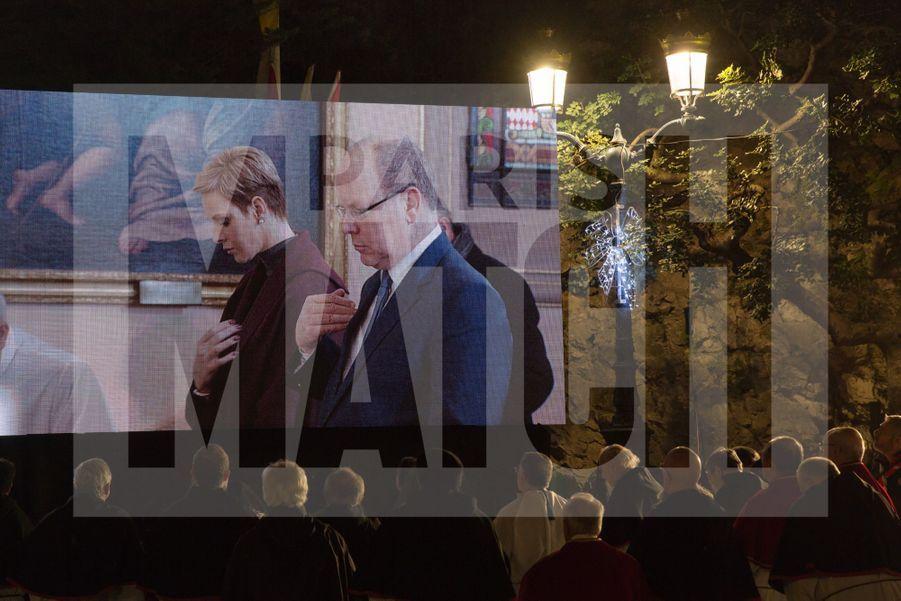Charlene De Monaco Et Le Prince Albert, Lors Des Celebrations De La Sainte Devote 8