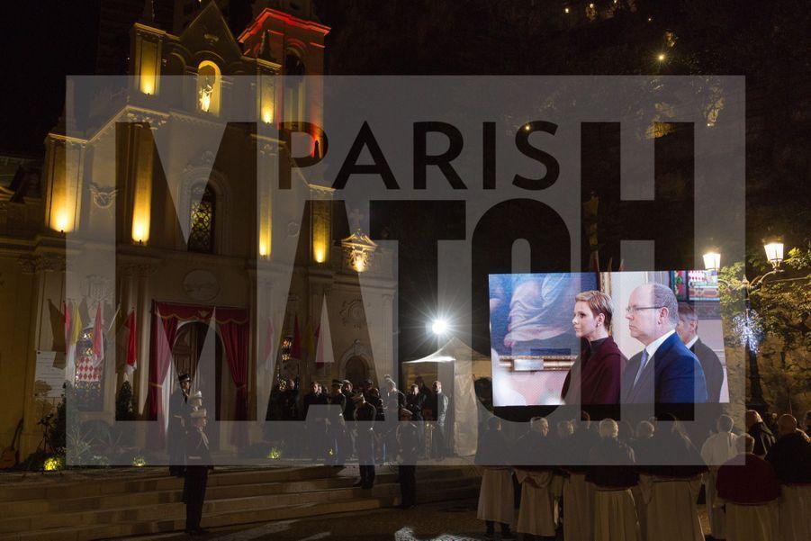 Charlene De Monaco Et Le Prince Albert, Lors Des Celebrations De La Sainte Devote 9