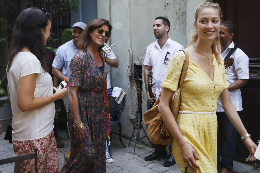 Caroline de Monaco avec Beatrice Borromeo à La Havane, le 29 octobre 2015