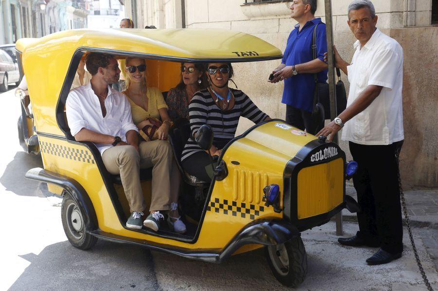 Caroline de Monaco avec Pierre Casiraghi et Beatrice Borromeo à La Havane, le 29 octobre 2015