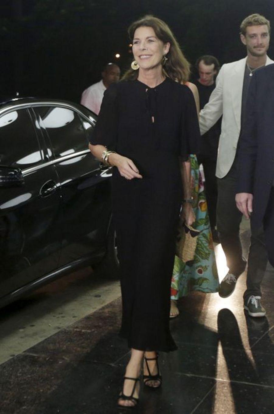 Caroline de Monaco avec Pierre Casiraghi et Beatrice Borromeo à La Havane, le 30 octobre 2015
