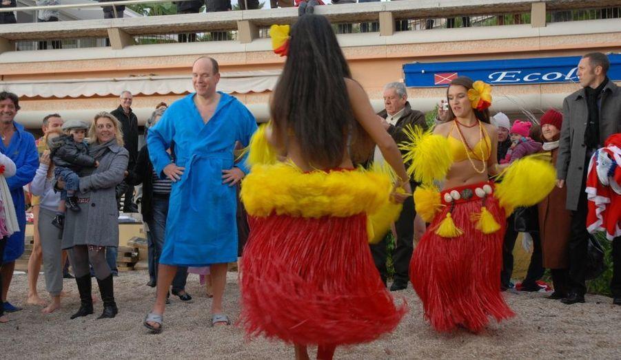 ... une danse tropicale pour se réchauffer