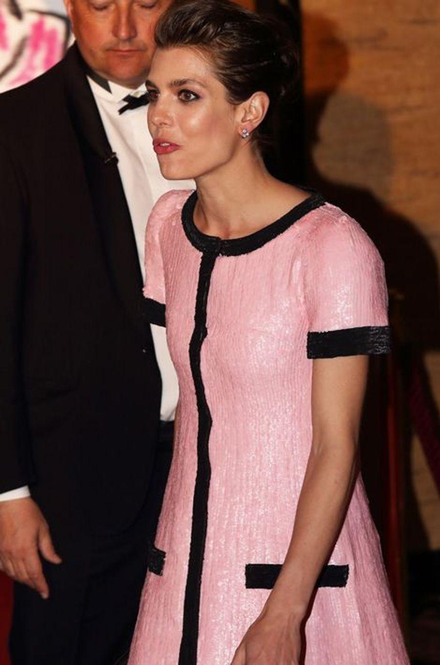 Charlotte Casiraghi au bal de la Rose à Monaco, le 28 mars 2015
