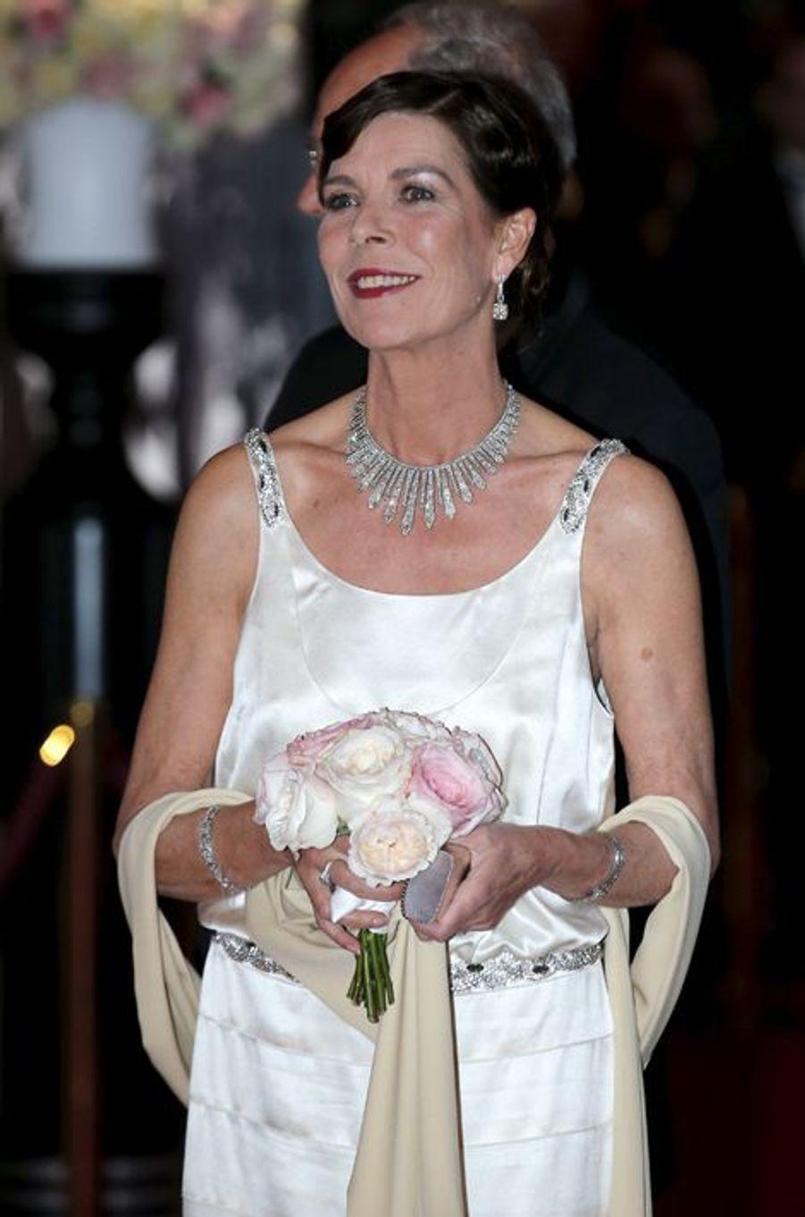 La princesse Caroline de Monaco au bal de la Rose à Monaco, le 28 mars 2015