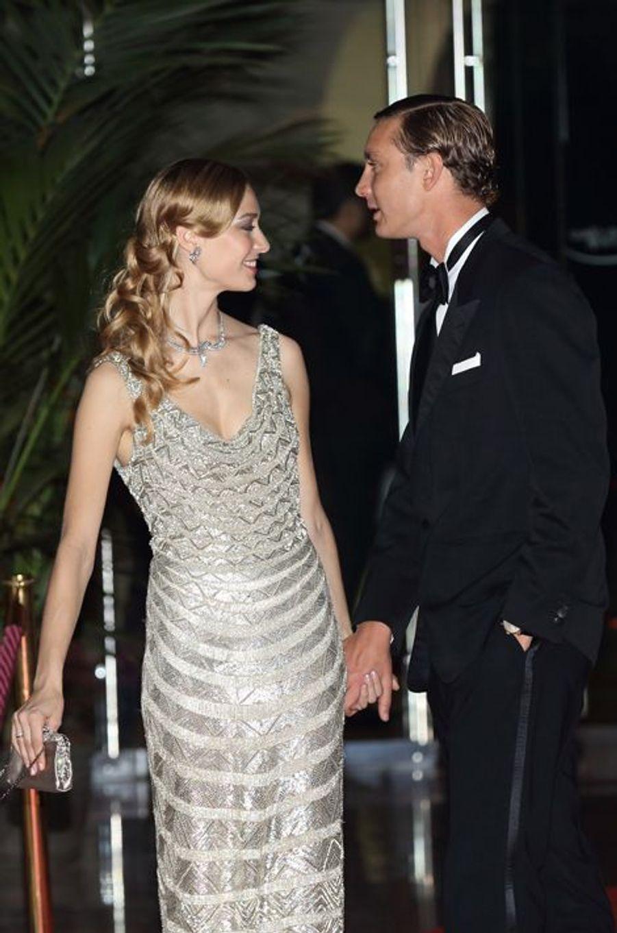 Pierre Casiraghi et Béatrice Borroméo au bal de la Rose à Monaco, le 28 mars 2015