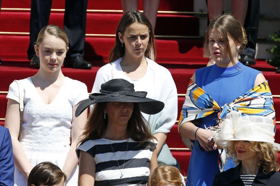 La princesse Alexandra, Pauline Ducruet et Camille Gottlieb