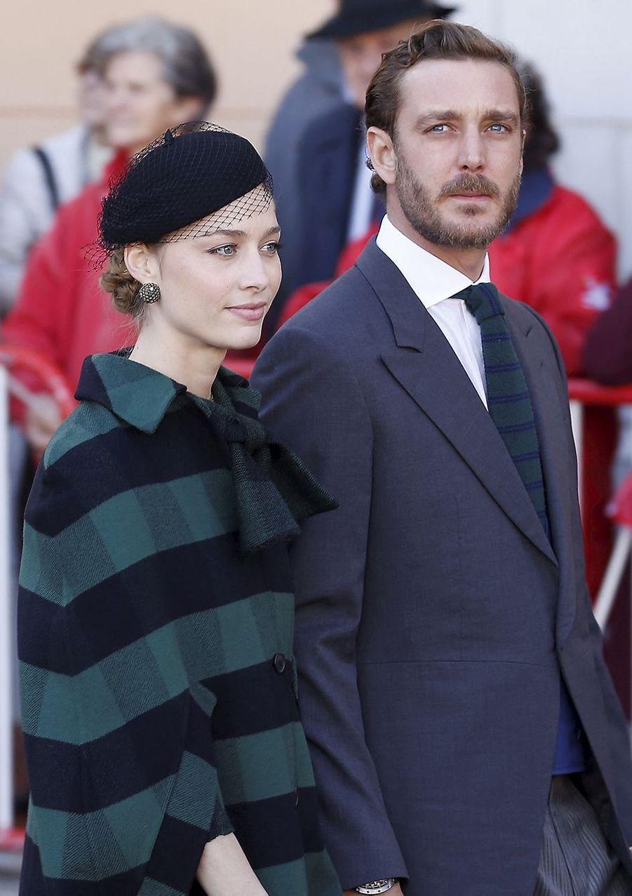 Beatrice Borromeo (en Dior) et Pierre Casiraghi lors de la fête nationale de Monaco en novembre 2019