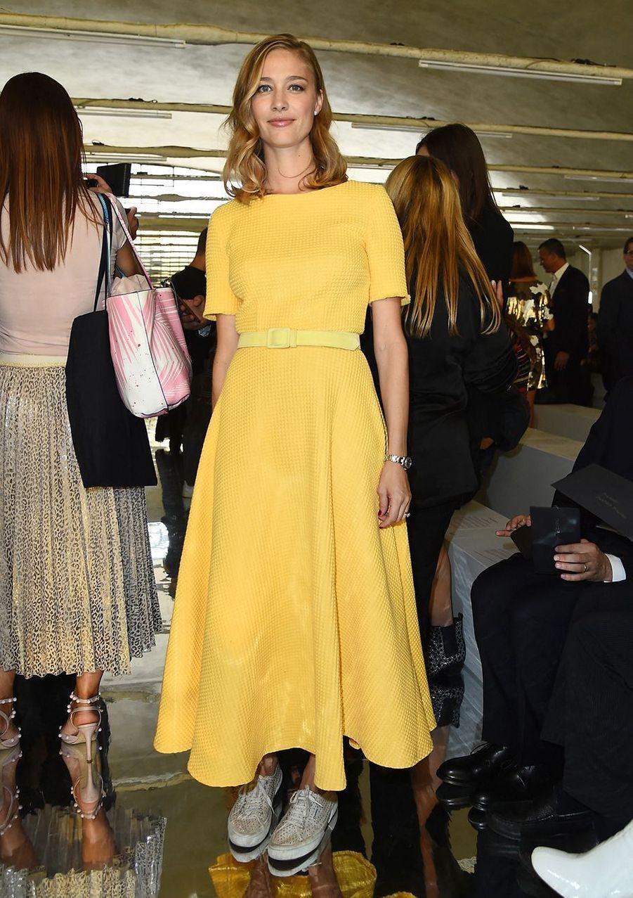 Beatrice Borromeo au défilé Byblos lors de la Fashion Week de Milan en septembre 2018