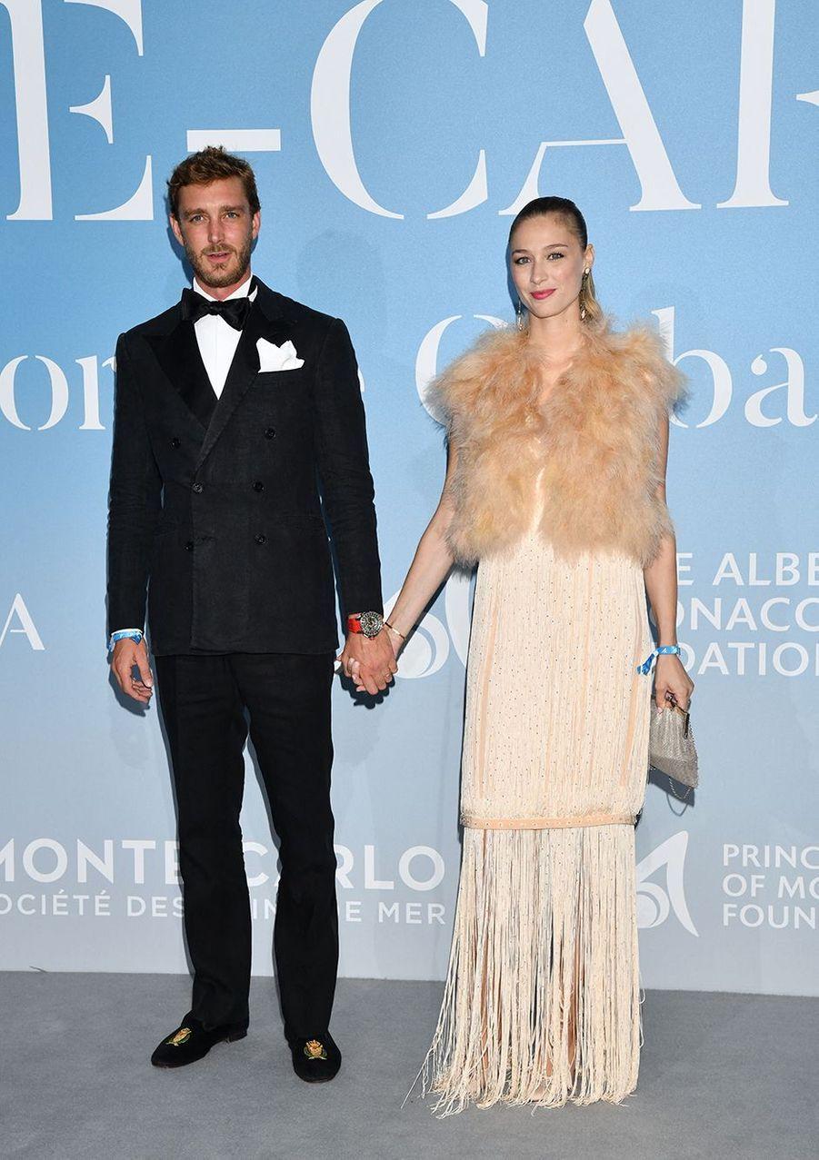 Pierre Casiraghi et Beatrice Borromeo lors du Monte-Caro Gala for the Global Ocean à Monaco en septembre 2018