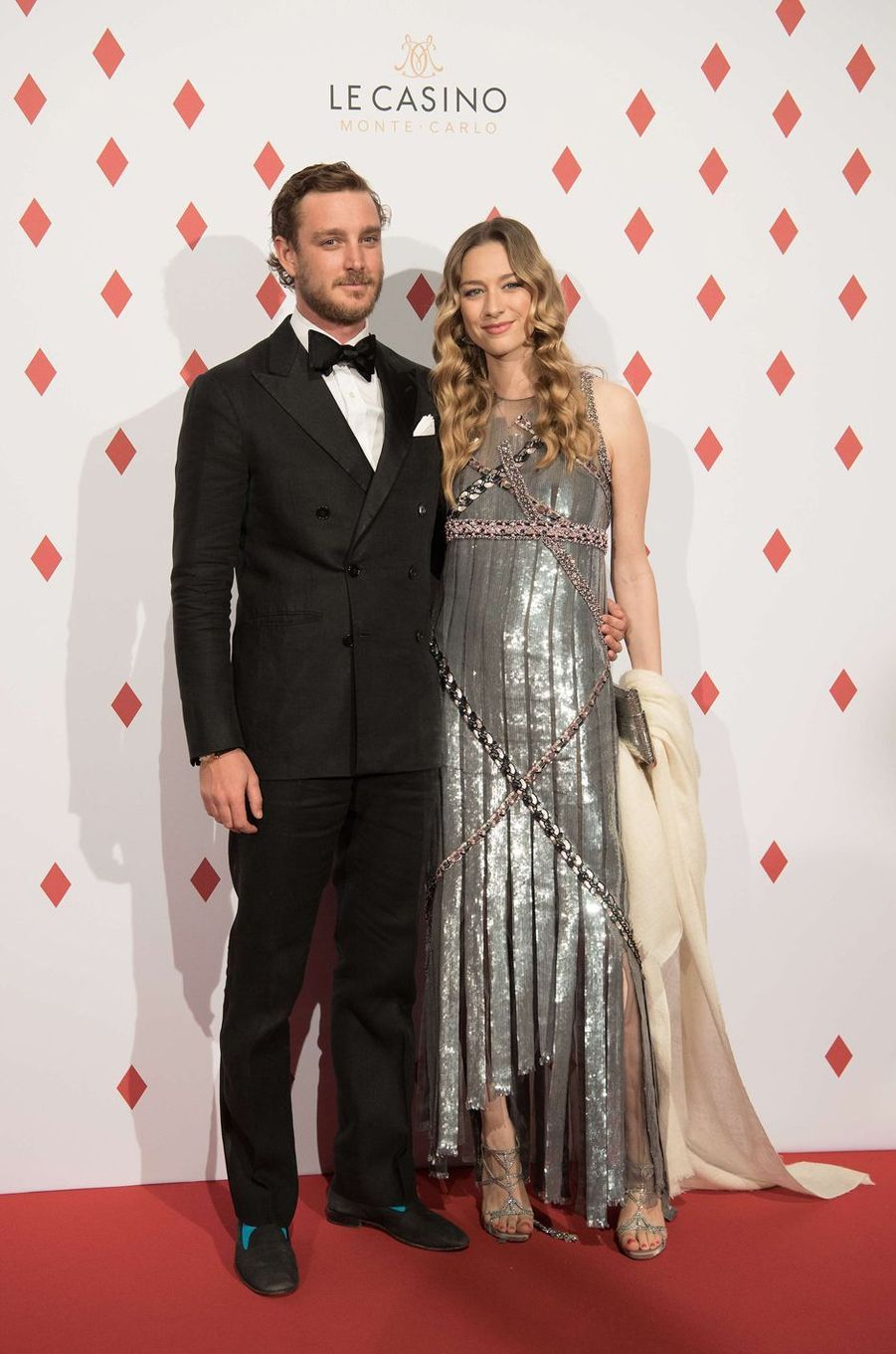 Beatrice Borromeo et Pierre Casiraghi à Monaco, le 28 avril 2017