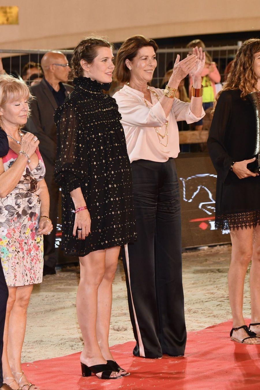 La Princesse Caroline Et Sa Fille Charlotte Casiraghi Lors De La 13ème Édition Du Jumping International De Monte Carlo ( 11